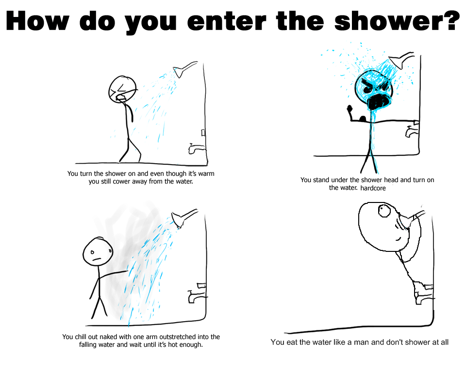 How do you shower?